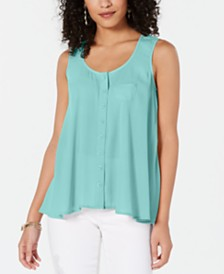 Style & Co Swing Sleeveless Blouse, Created for Macy's
