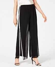 Rhinestone-Trim Wide-Leg Pants, Created for Macy's
