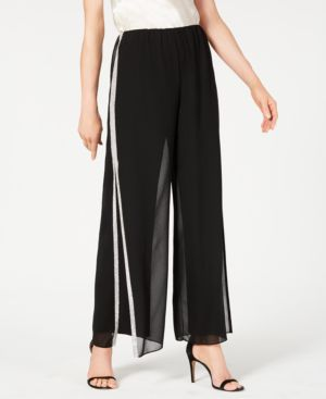 Image of 28th & Park Rhinestone-Trim Wide-Leg Pants, Created for Macy's