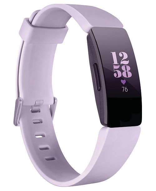 Fitbit Inspire HR Lilac Strap Activity Tracker 16.4mm
