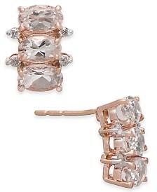 Morganite (1-1/2 ct. t.w.) & Diamond Accent Drop Earrings in 14k Rose Gold