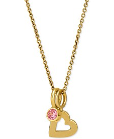 "Sarah Chloe Love Count Layered Charm Pendant Necklace in 14k Gold-Plate Over Sterling Silver, 16"" + 2"" extender"