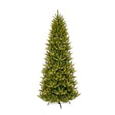 Puleo International 6.5 ft. Pre-lit Slim Franklin Fir Artificial Christmas Tree 350 UL listed Clear Lights
