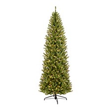 International 6.5 ft. Pre-lit Franklin Fir Pencil Artificial Christmas Tree 250 UL listed Clear Lights