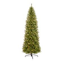 Puleo International 6.5 ft. Pre-lit Franklin Fir Pencil Artificial Christmas Tree 250 UL listed Clear Lights