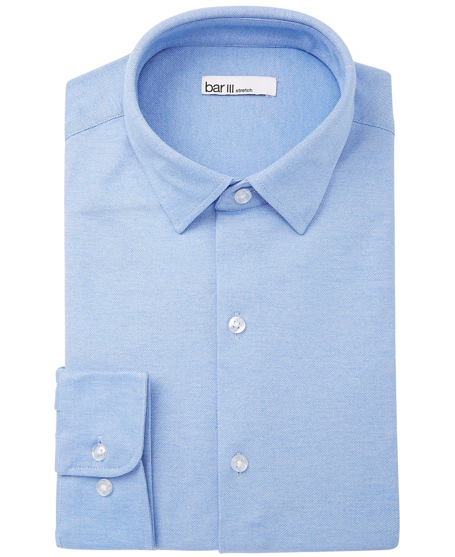 cd42871d2 Bar III Men's Slim-Fit Stretch Knits Solid Dress Shirt, Created for Macy's
