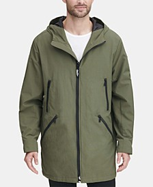 Men's 3/4-Length Hooded Rain Coat, Created for Macy's