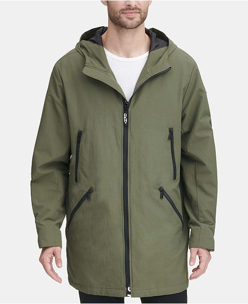 bf598e97ef0 Men's 3/4-Length Hooded Rain Coat, Created for Macy's