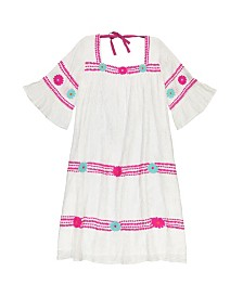 Masala Baby Girls Maria Dress Metallic Stripe