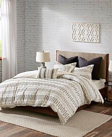 INK+IVY Rhea King/Cal King 3-Piece Cotton Jacquard Comforter Mini Set