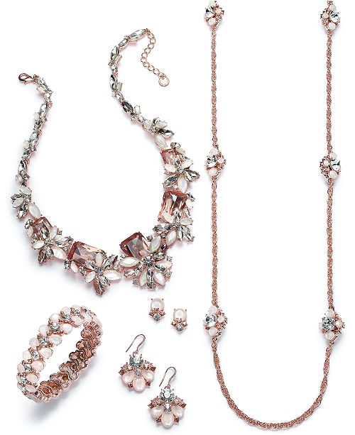 Charter Club Rose Gold- Tone Crystal and Stone Collection