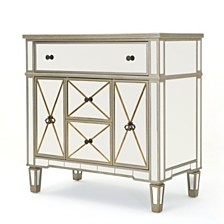 Fergus Mirrored 5 Drawer Cabinet, Quick Ship