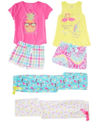 Little & Big Girls Plaid Pajama Shorts, Created for Macy's