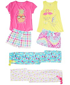 Little & Big Girls Graphic-Print Pajama Tops, Shorts & Pants, Created for Macy's
