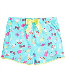 Max & Olivia Little & Big Girls Rainbow-Print Pajama Shorts, Created for Macy's