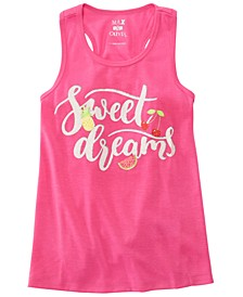 Little & Big Girls Dreams-Print Pajama Tank Top, Created for Macy's
