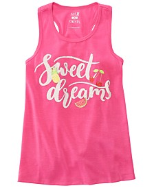 Max & Olivia Little & Big Girls Dreams-Print Pajama Tank Top, Created for Macy's