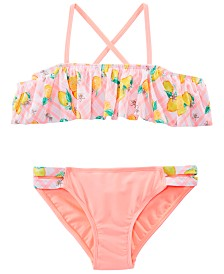 Summer Crush Big Girls 2-Pc. Ruffle Printed Bikini