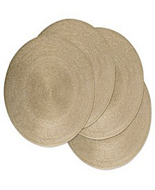 Metallic Round Polypropylene Woven Placemat, Set of 4
