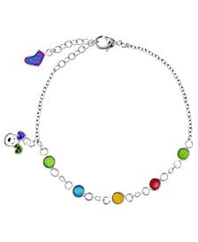 Snowdog Colorful Stones Charm Bracelet
