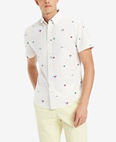 6b4094e6f Tommy Hilfiger Men's Custom-Fit Tennis Critter-Print Shirt