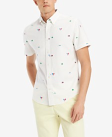 Tommy Hilfiger Men's Custom-Fit Tennis Critter-Print Shirt