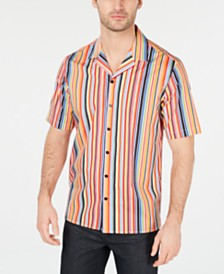 Alfani Men's Patterned Camp Collar Shirt, Created for Macy's