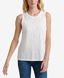 Cotton Appliqué Tank Top