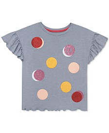 Calvin Klein Big Girls Dot-Print T-Shirt