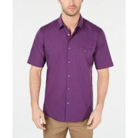 Deals on Alfani Mens Stretch Modern Stripe Pocket Shirt