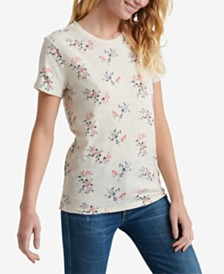 Lucky Brand Cotton Floral-Print T-Shirt
