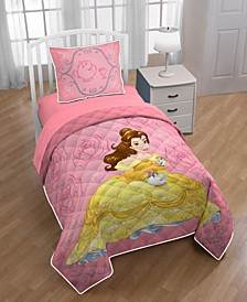 y Beauty and the Beast Belle Twin/Full Quilt with Sham