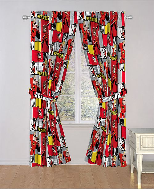 """Disney The Incredibles 2 Super Family 84"""" Drapes"""
