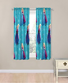 "Disney Frozen Swirl 63"" Drapes"