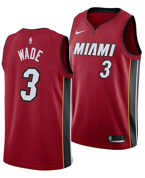 online retailer beae2 160fd Men's Dwyane Wade Miami Heat Statement Swingman Jersey