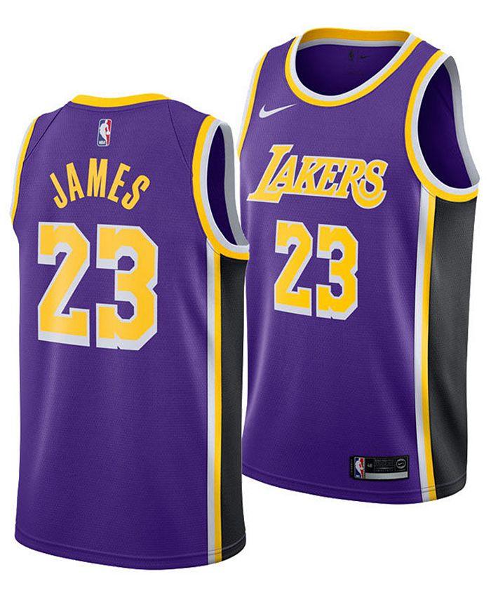 Nike Men's LeBron James Los Angeles Lakers Statement Swingman ...