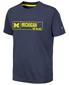Colosseum Big Boys Michigan Wolverines Boxed Logo Polyester T-Shirt