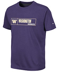 Colosseum Big Boys Washington Huskies Boxed Logo Polyester T-Shirt