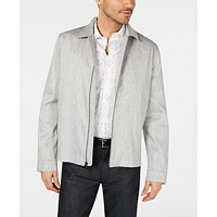 Deals on Alfani Mens Harrington Linen Blend Jacket
