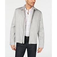 Alfani Men's Harrington Linen Blend Jacket