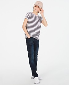 Epic Threads Big Boys Pink Punch Stripe T-Shirt & Stretch Jeans, Created for Macy's
