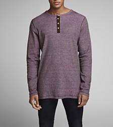 Jack & Jones Men's Melange Henley Tshirt