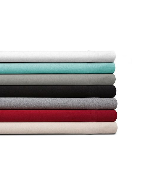 Spectrum Home Organic Cotton Jersey Graphite King Sheet Set