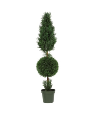 Nearly Natural 5' Cypress Ball and Cone Faux Silk Tree