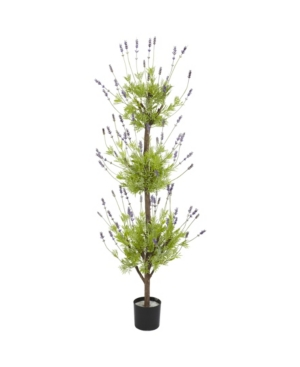Nearly Natural 4' Lavender Topiary Faux Silk Tree