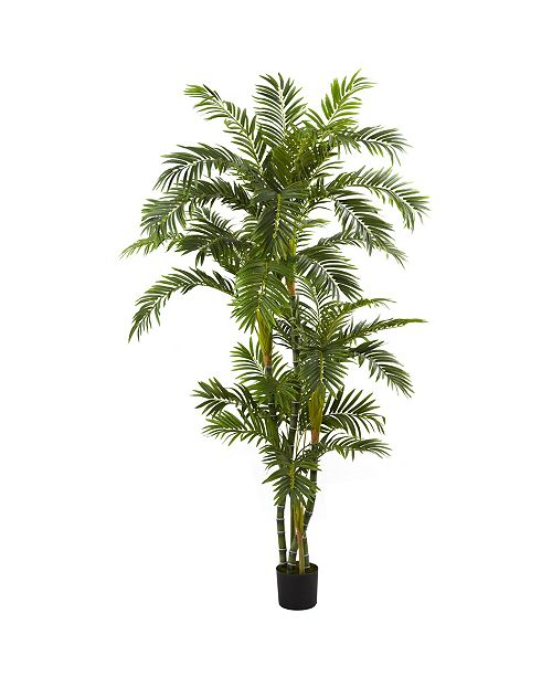 Nearly Natural 6' Curvy Parlor Palm Silk Tree
