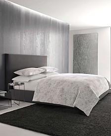 Vera Wang Tuille Floral Grey Duvet Set, Queen
