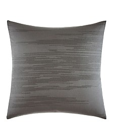 Vera Wang Burnished Quartz Dark Grey Square Pillow