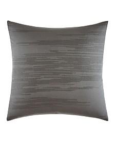 Vera Wang Burnished Quartz Dark Grey Square Pillow