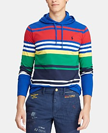 Polo Ralph Lauren Men's Multi-Striped Hooded T-Shirt